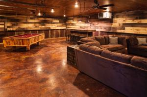 The bar, rec, pool table